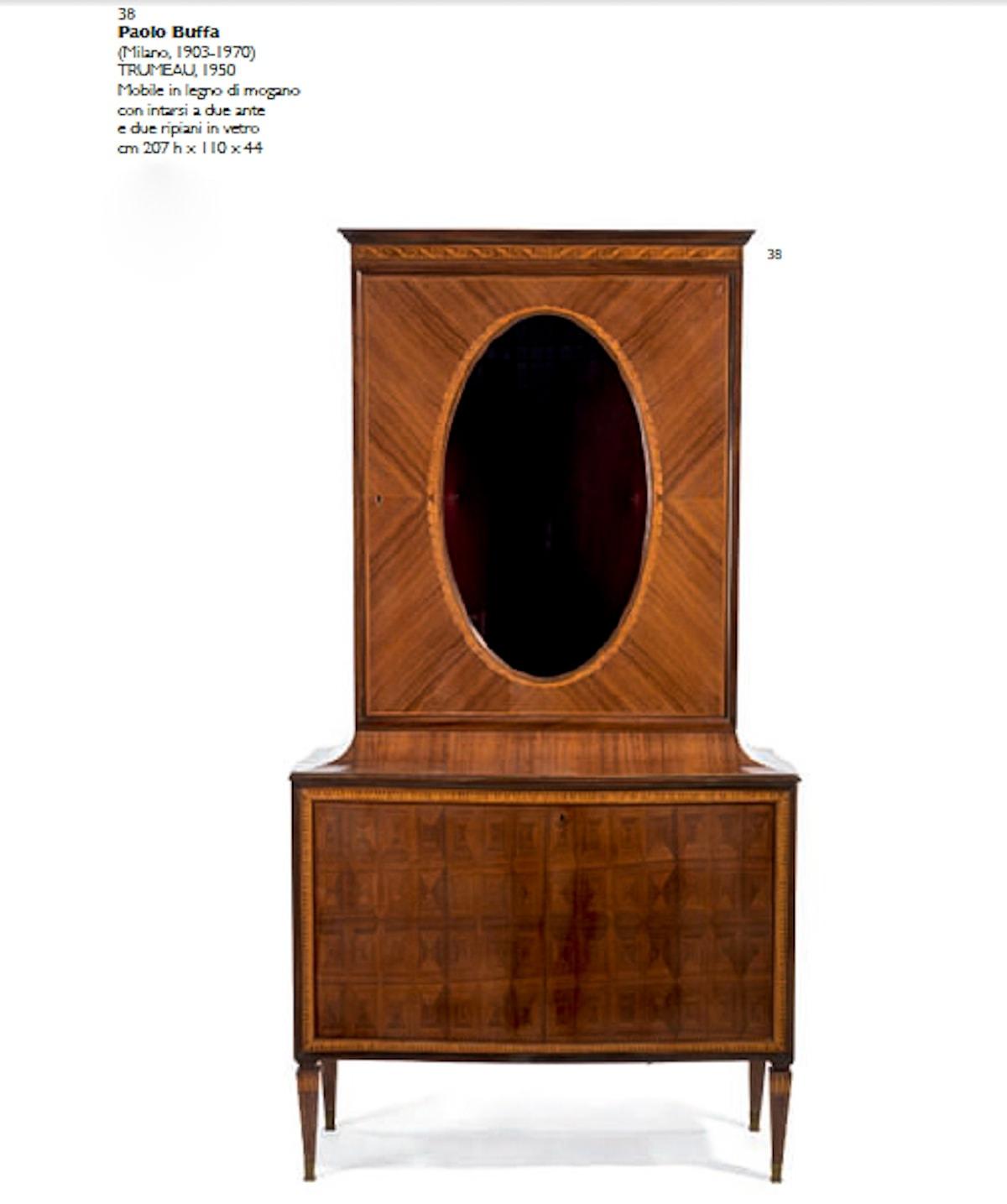 Trumeau Paolo Buffa auction Italian design 1950's