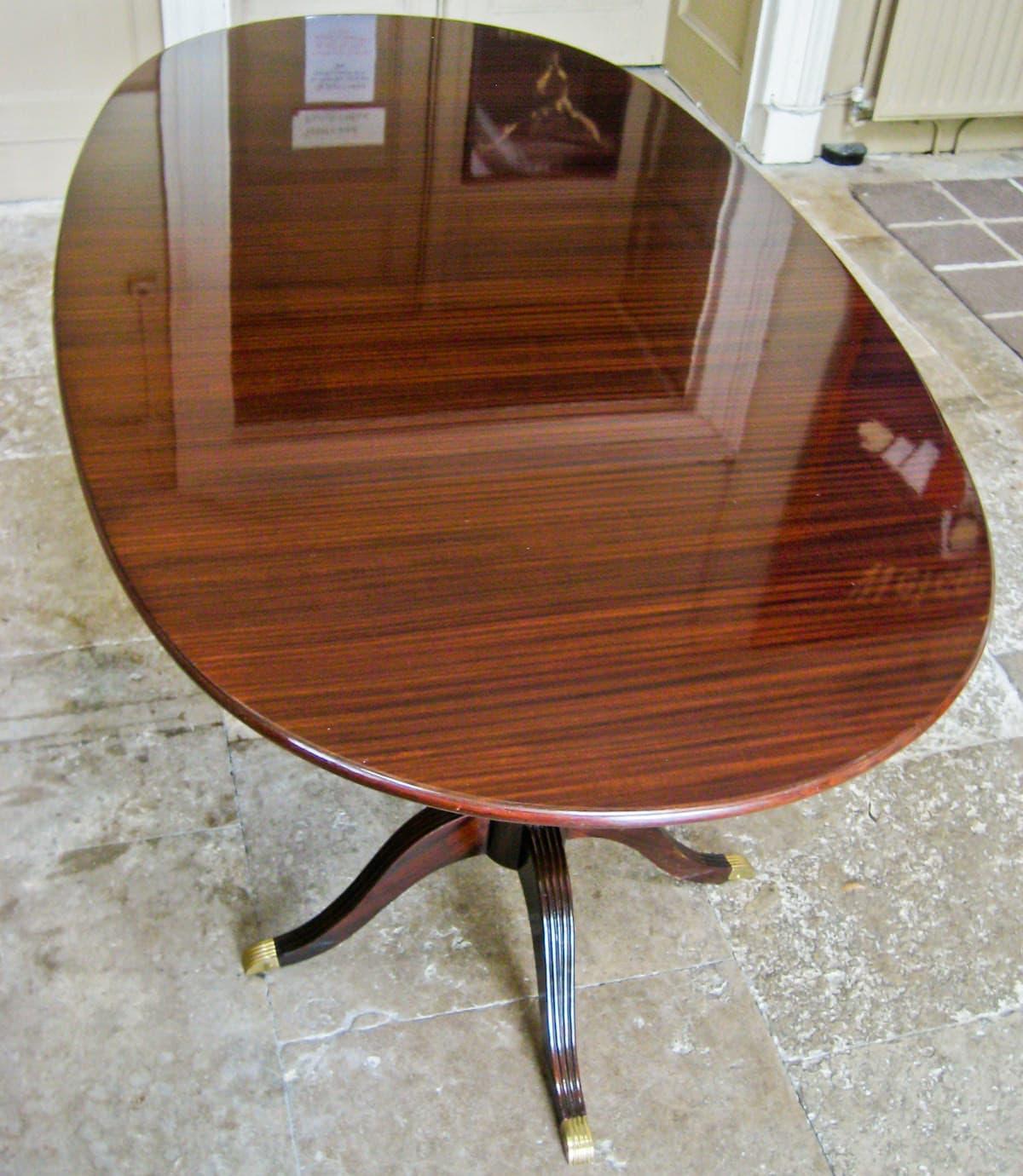 Vintage dining table mahogany Paolo Buffa Italian design