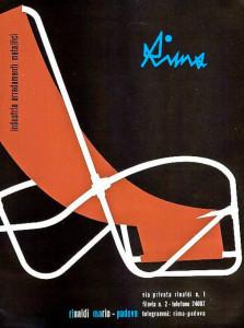 Rima Rimaldi armchair advert Italian design 1950's
