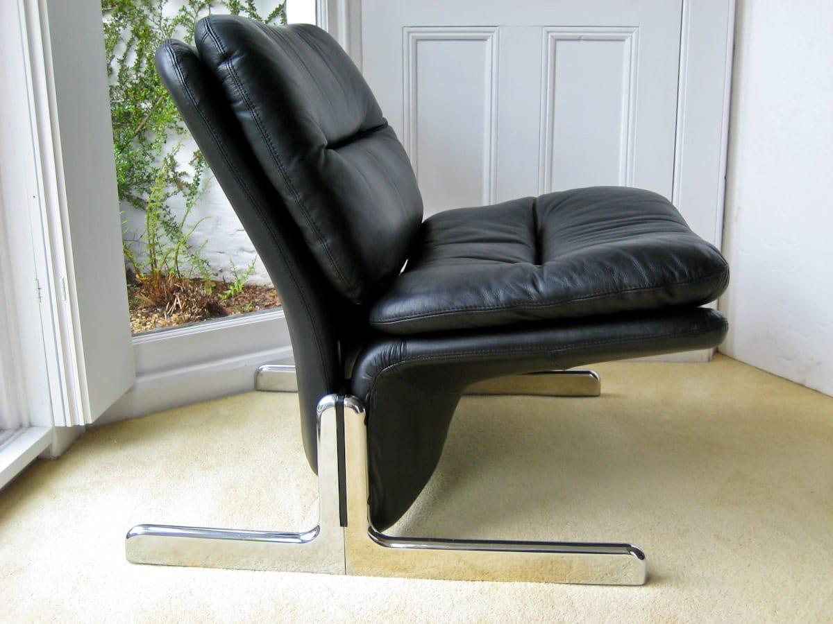 Italian vintage furniture London Brunati lounge chairs 1970's