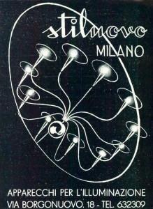 Stilnovo mid century modern furniture Italian light advert 1950