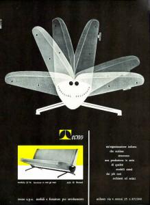 Borsani Tecno D 70 sofa Italian design 1950's