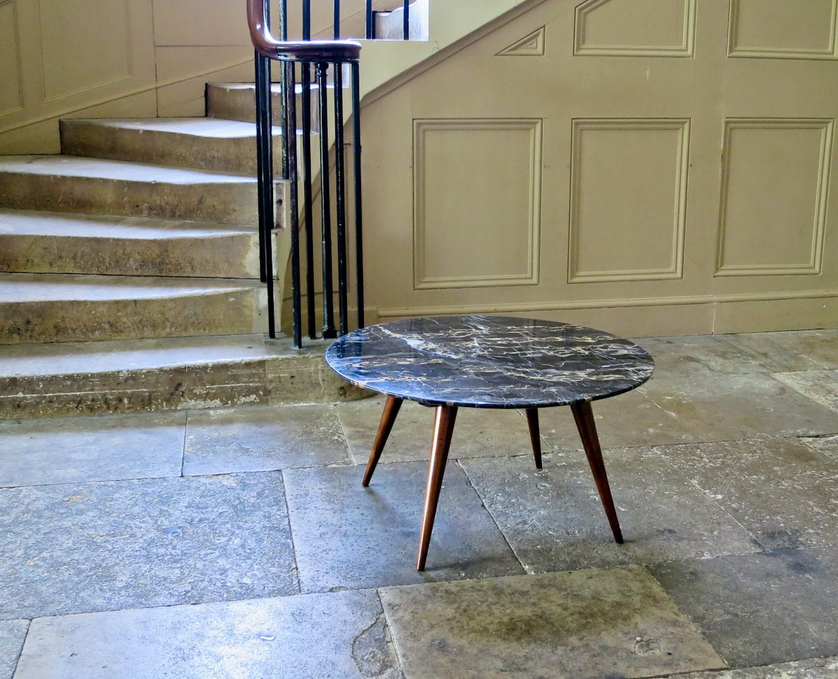 Mid century coffee table marble Italian 1950's