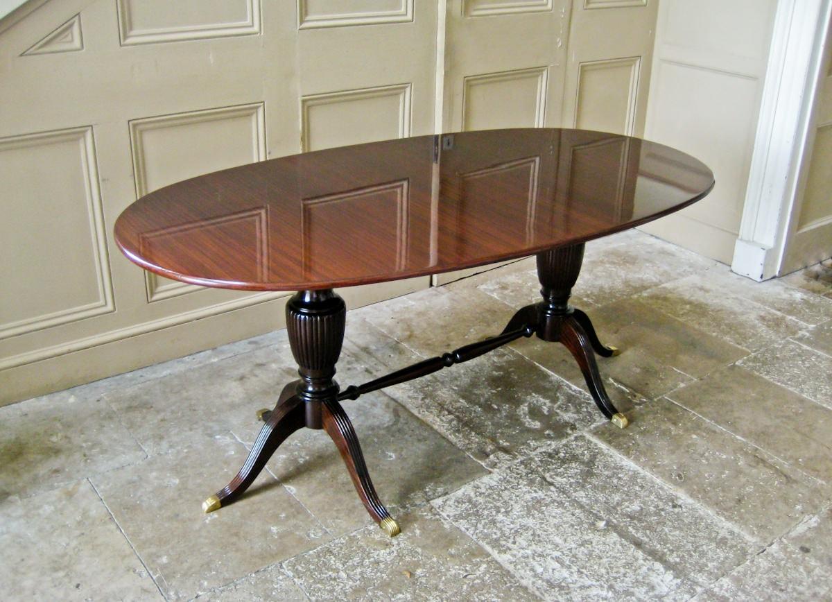Vintage dining table mahogany Italian 1950's