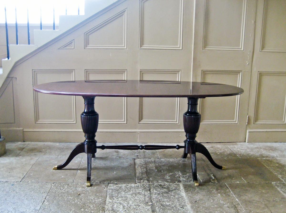 Vintage dining table Paolo Buffa mahogany italian design