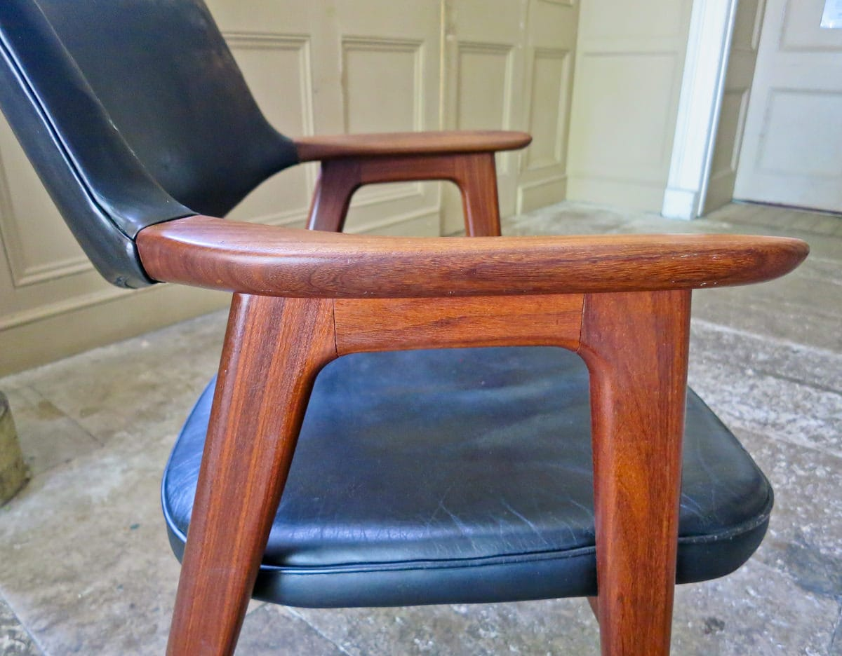Vintage armchair Erik Kirkegaard Danish teak 1950's