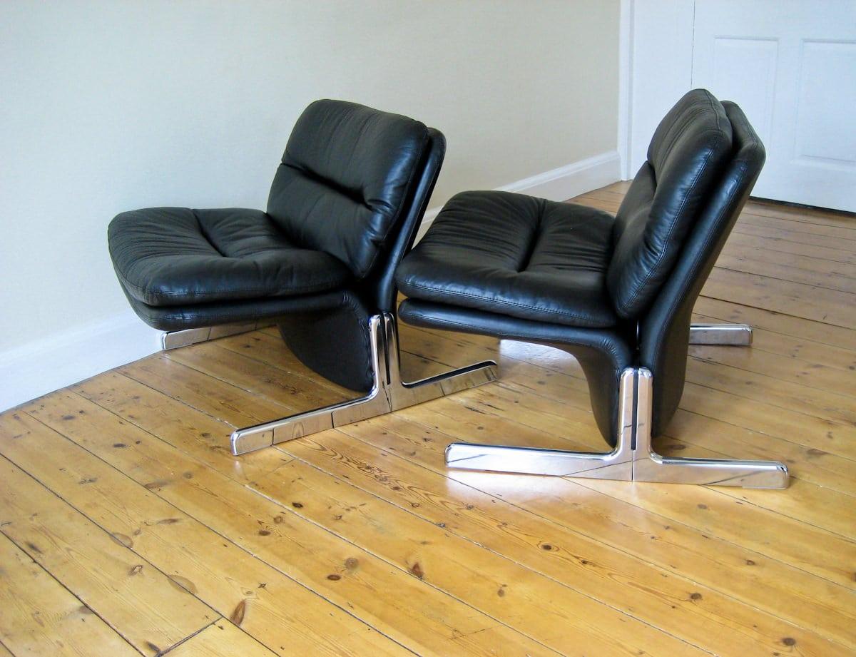 Vintage furniture London Brunati Sandwich chairs Italian leather