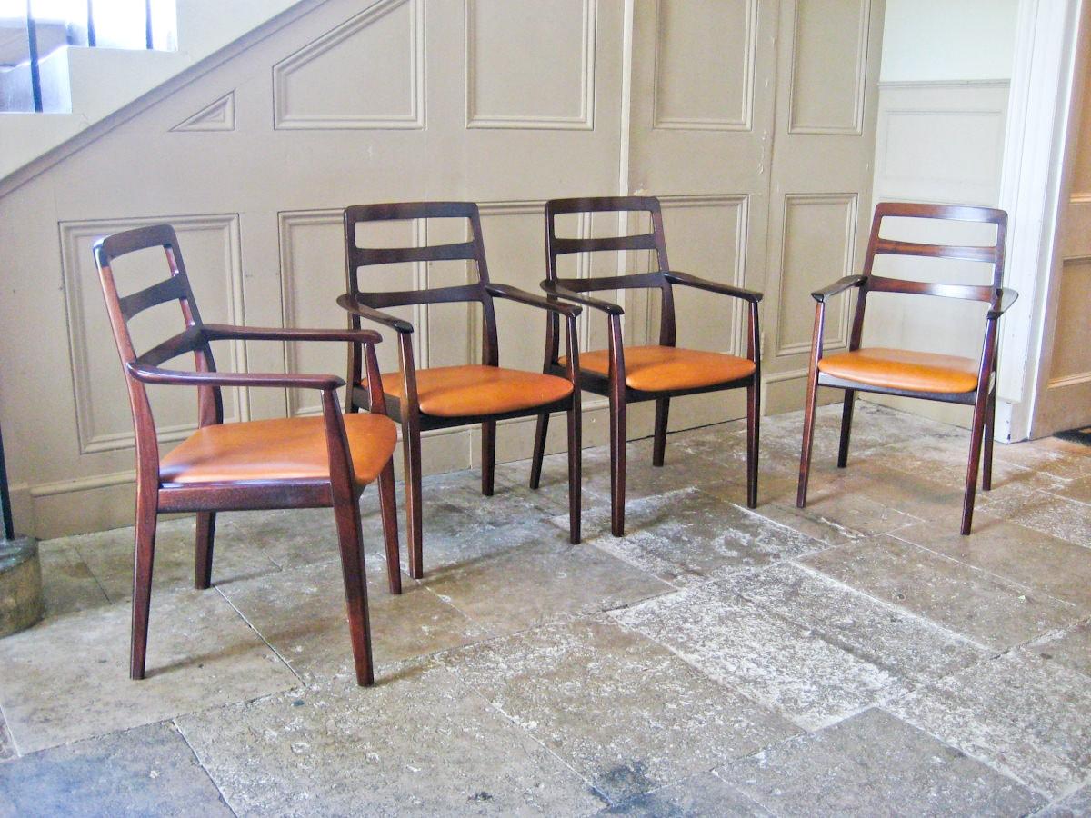 H.W.Klein dining chairs Bramin mahogany Danish