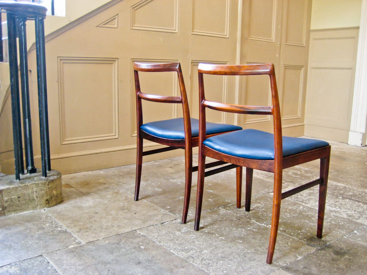 Mid century dining chairs & table Arne Vodder Sibast rosewood