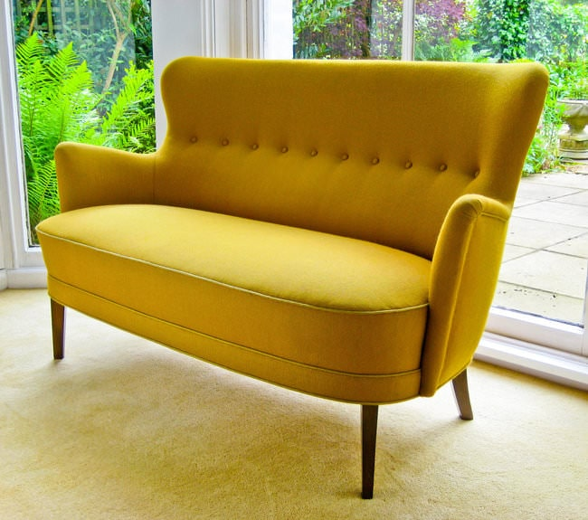 Danish vintage furniture sofa high back 1950's