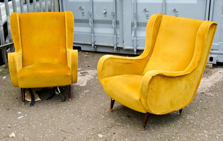 Mid century furniture restoration before