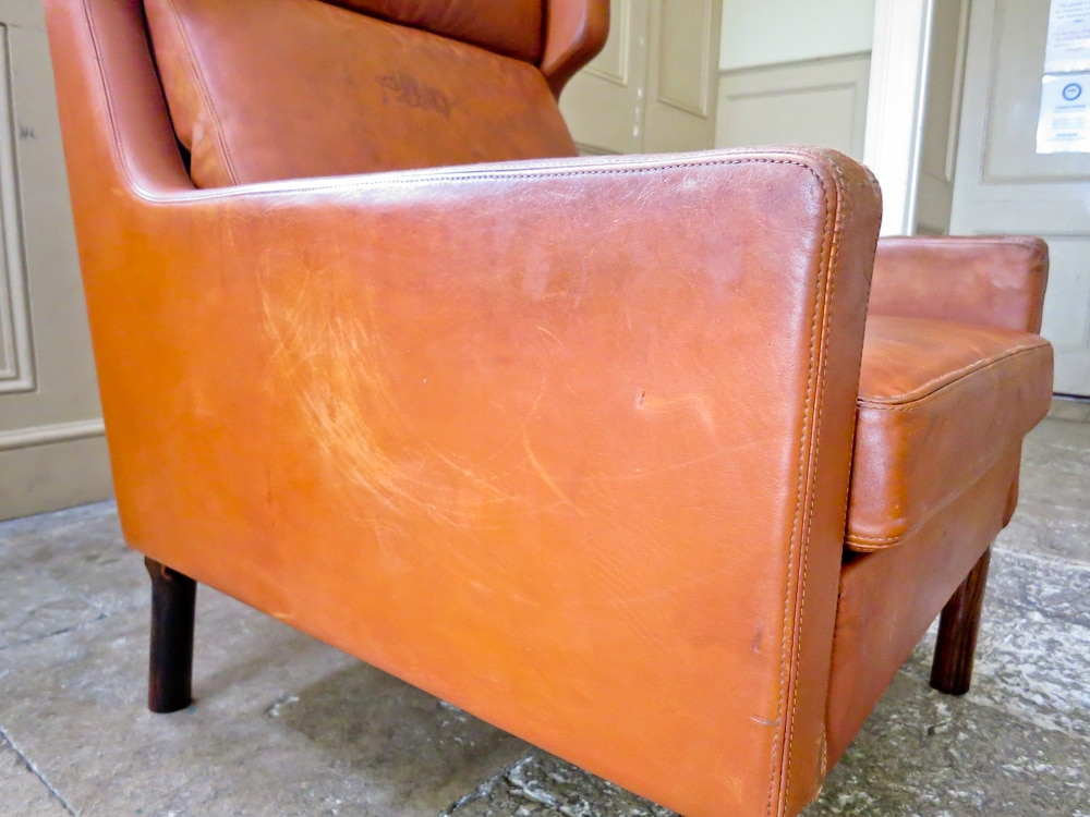 Arne Vodder armchair Fritz Hansen cognac leather Danish