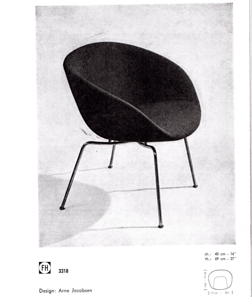 Arne Jacobsen design Fritz Hansen catalogue 1950's