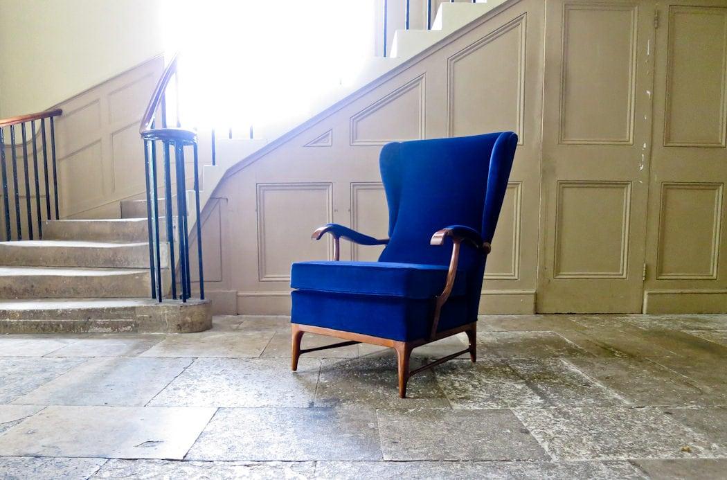 Velvet Paolo Buffa armchair mid century Italian 1950's