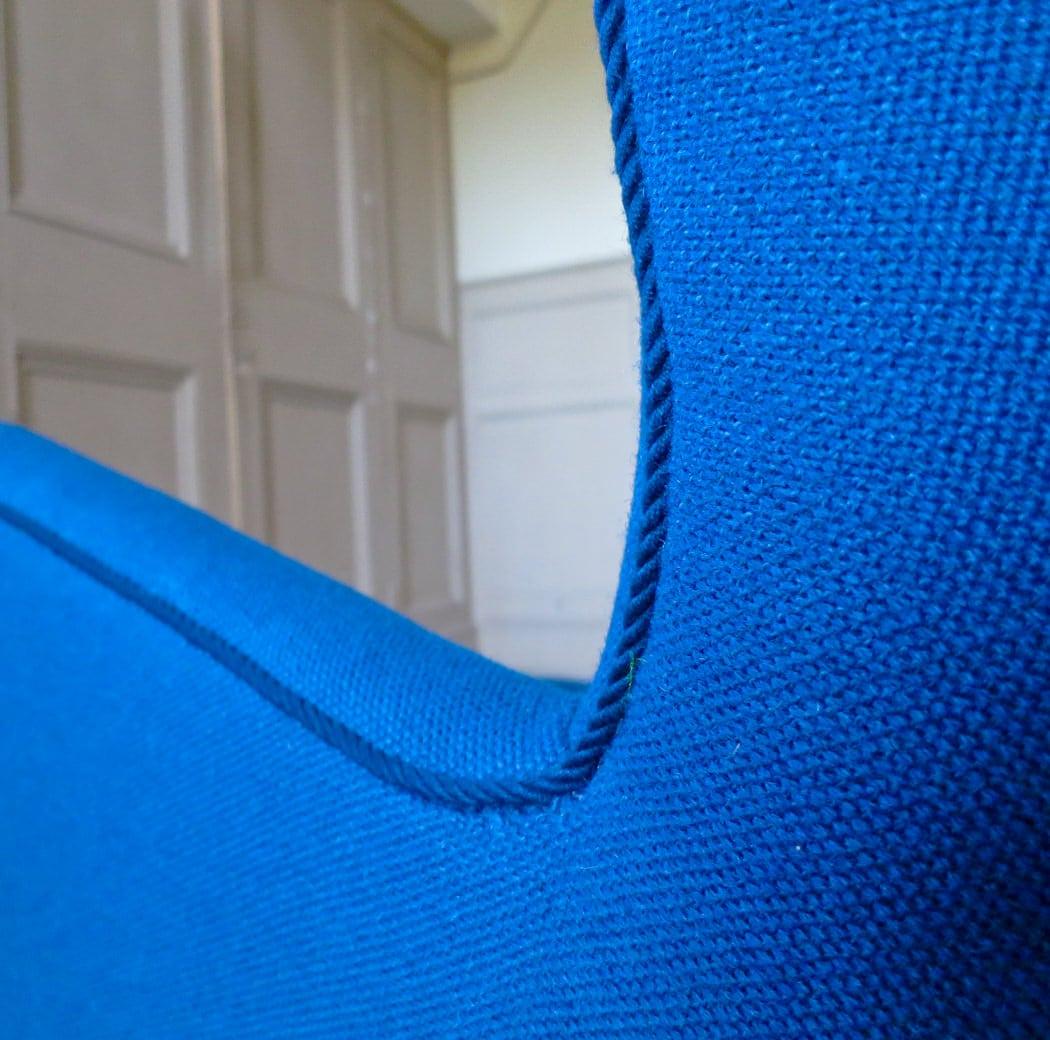 Fritz Hansen armchair blue wool Danish 1940's