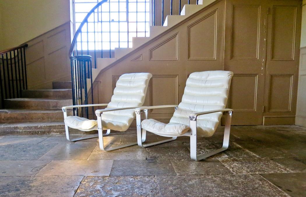 Mid century lounge chair Ilmari Lappalainen Pulkka chair 1960's