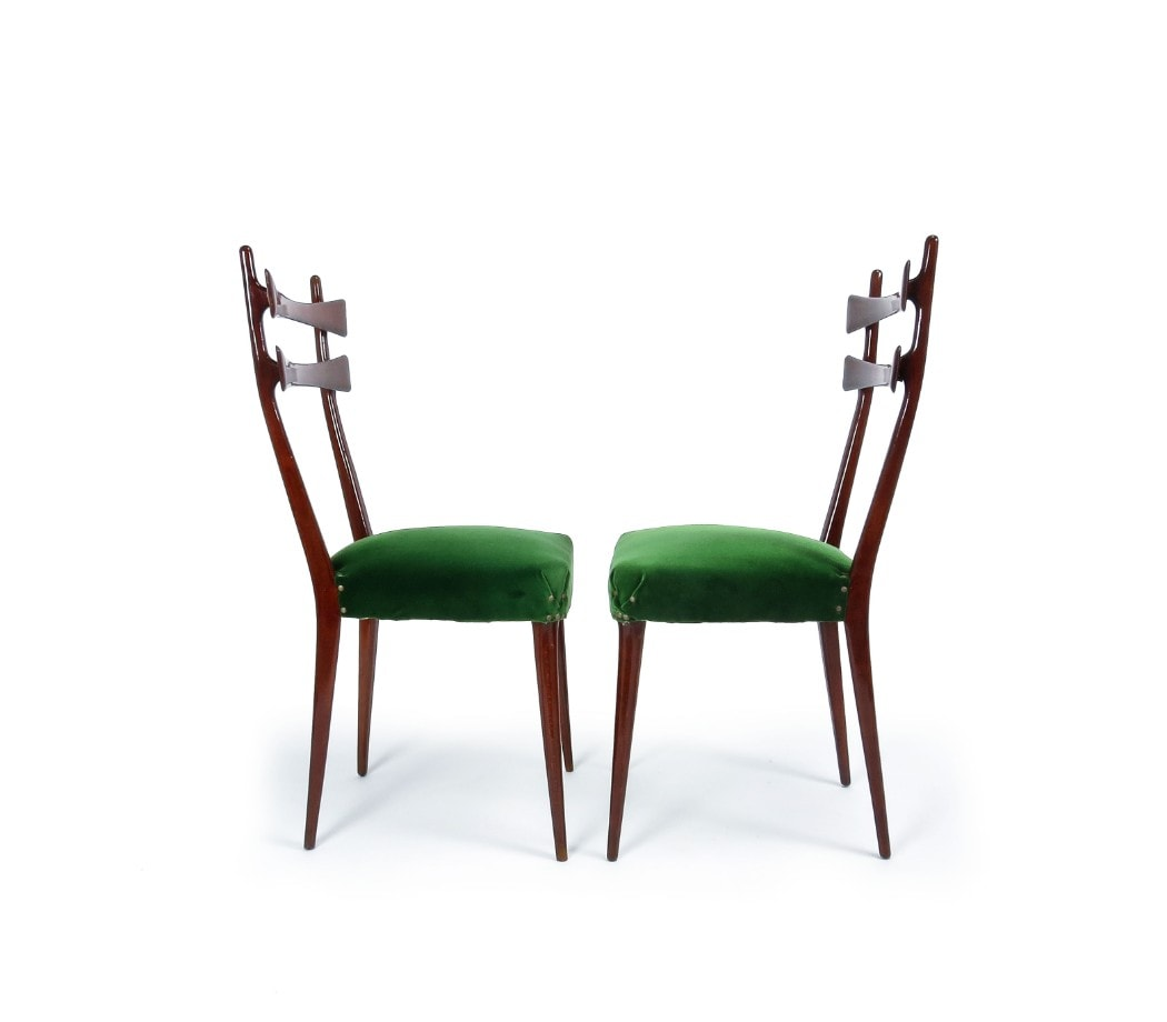 Italian design dining chairs 1950's mid century