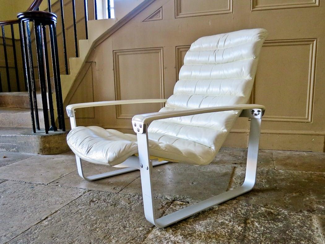 Ilmari Lappalainen Pulkka chair leather asko 1960's
