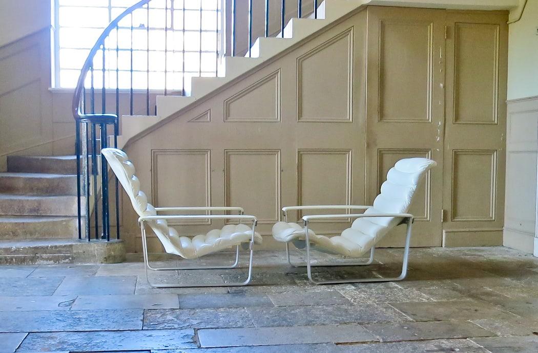 Ilmari Lappalainen Pulkka leather chair asko 1960's