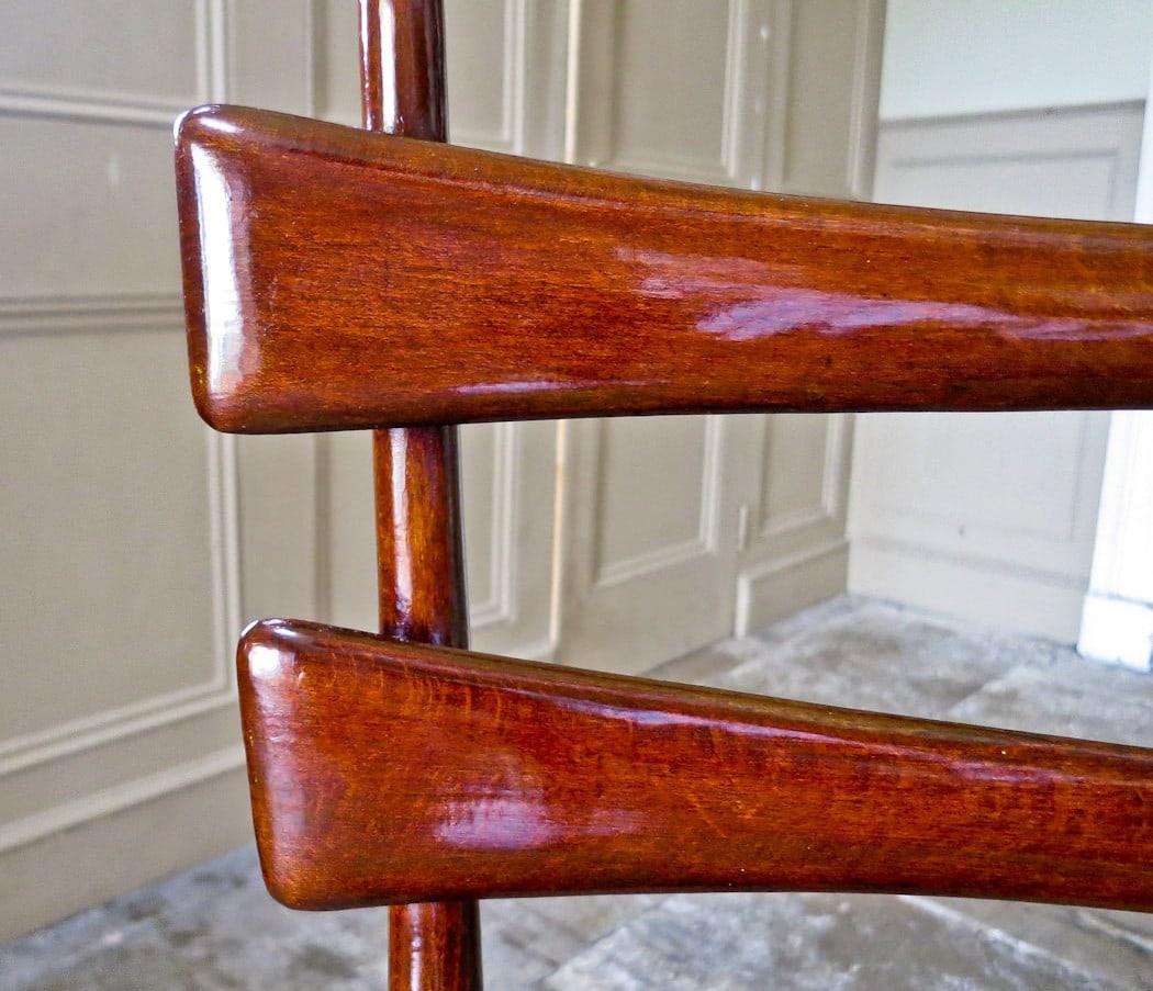 Mid century dining chairs Italian velvet 1950's