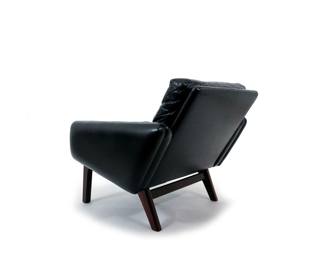 Leif Hansen armchair Kronen Leather rosewood 1950's