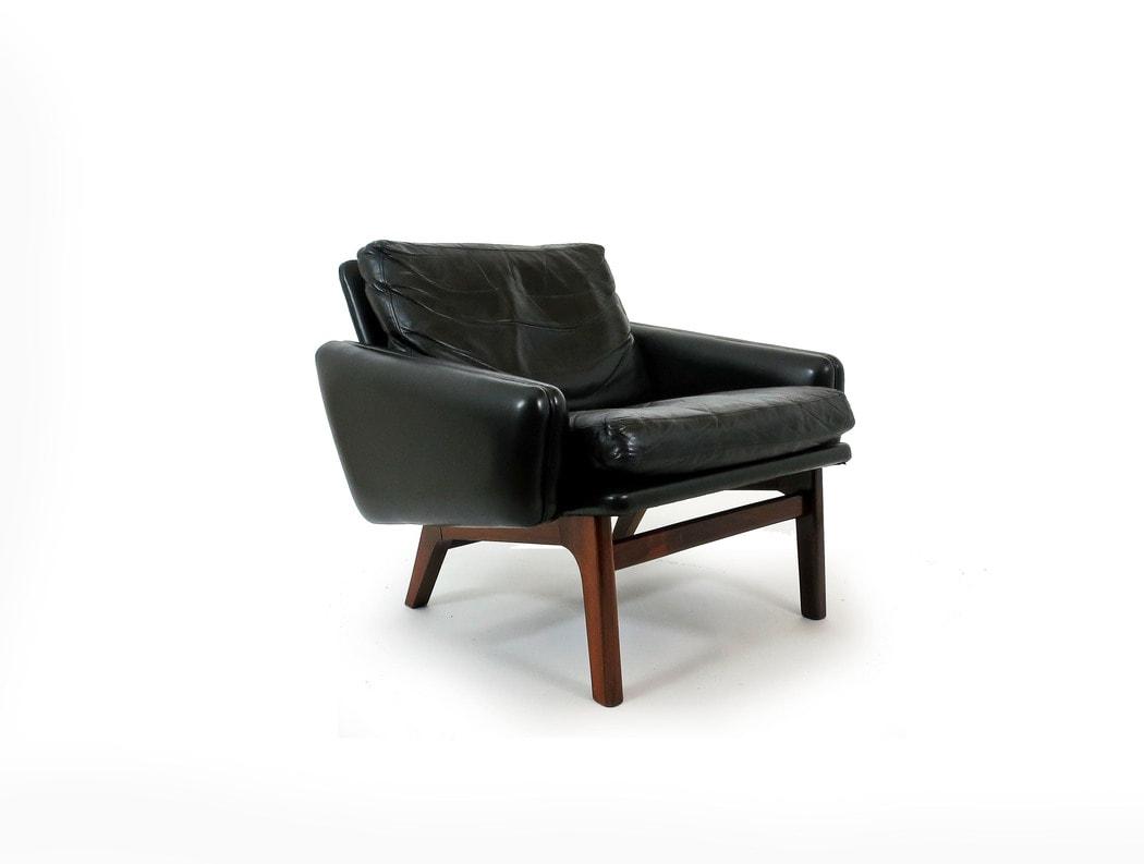Mid century armchair Leif Hansen Rosewood Danish 1950's