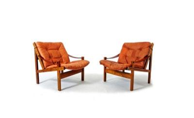 Danish leather armchair rosewood 1950's safari chair