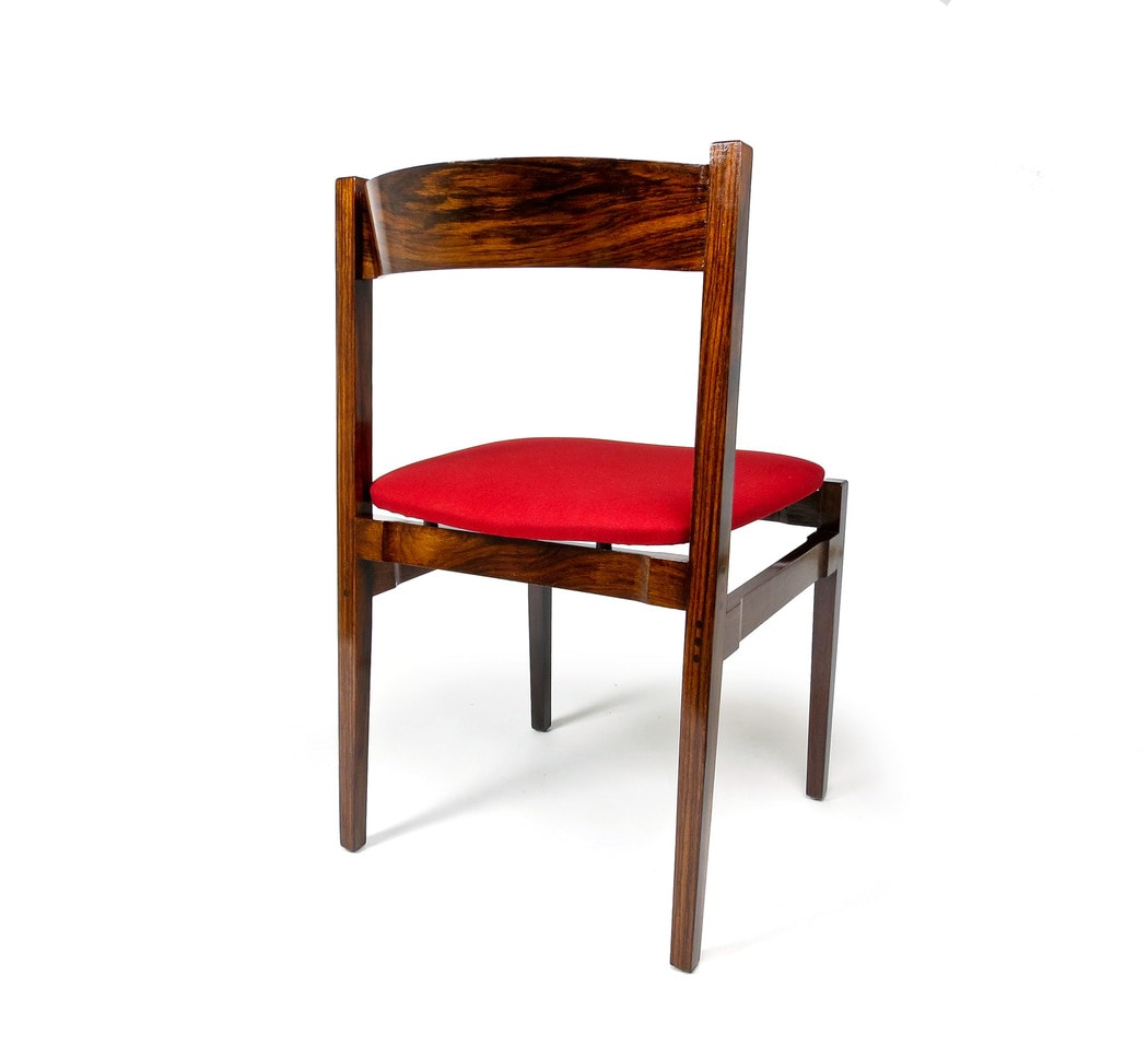 Rosewood dining chairs Itailian 1960's Cassina Frattini