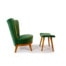 Swedish chair mid century furniture stool green velvet 1950's