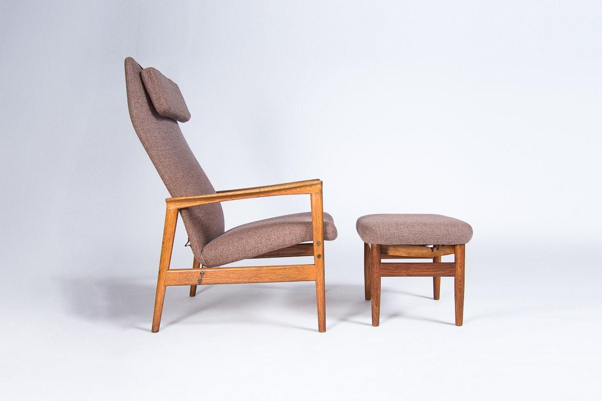 Mid century armchair Danish furniture oak 1950's