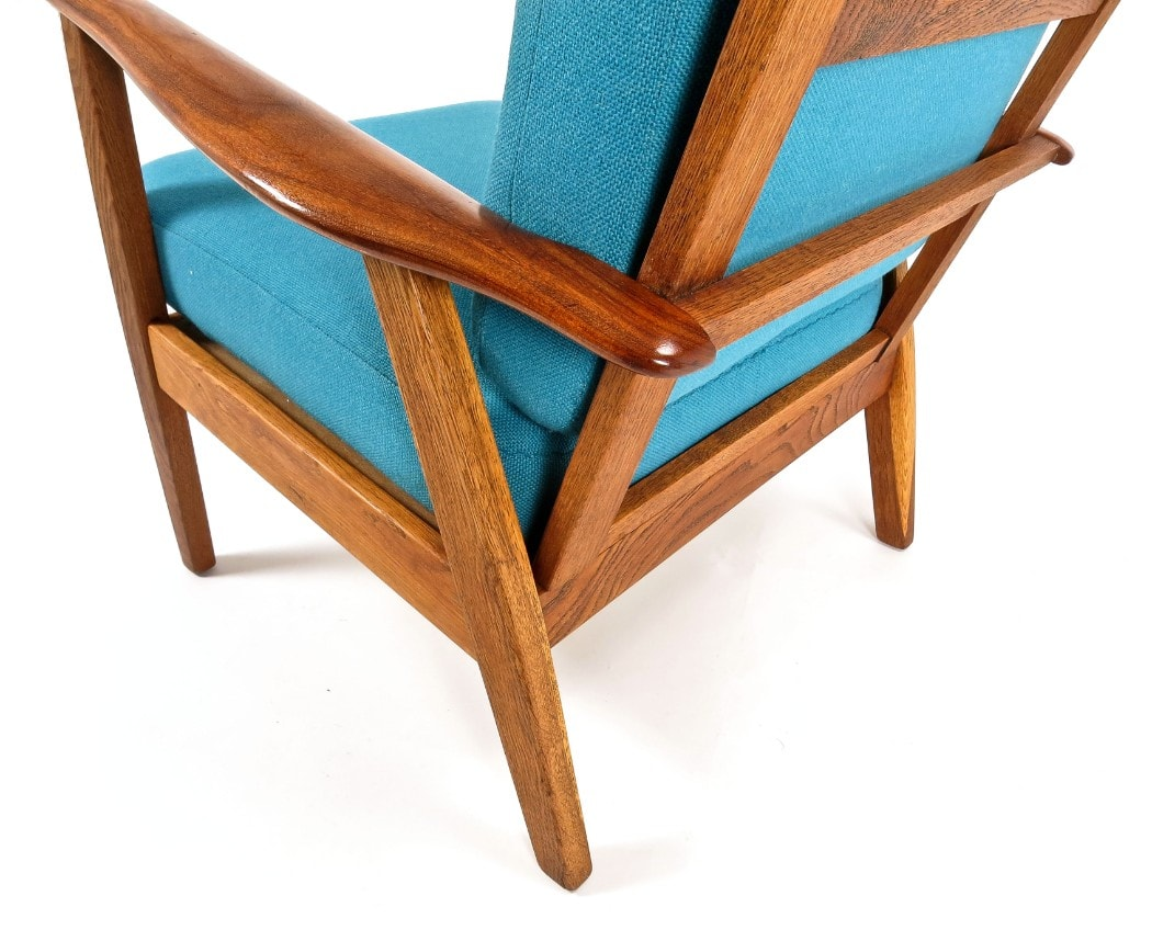Mid century armchair Danish chair London teak oak 1950's