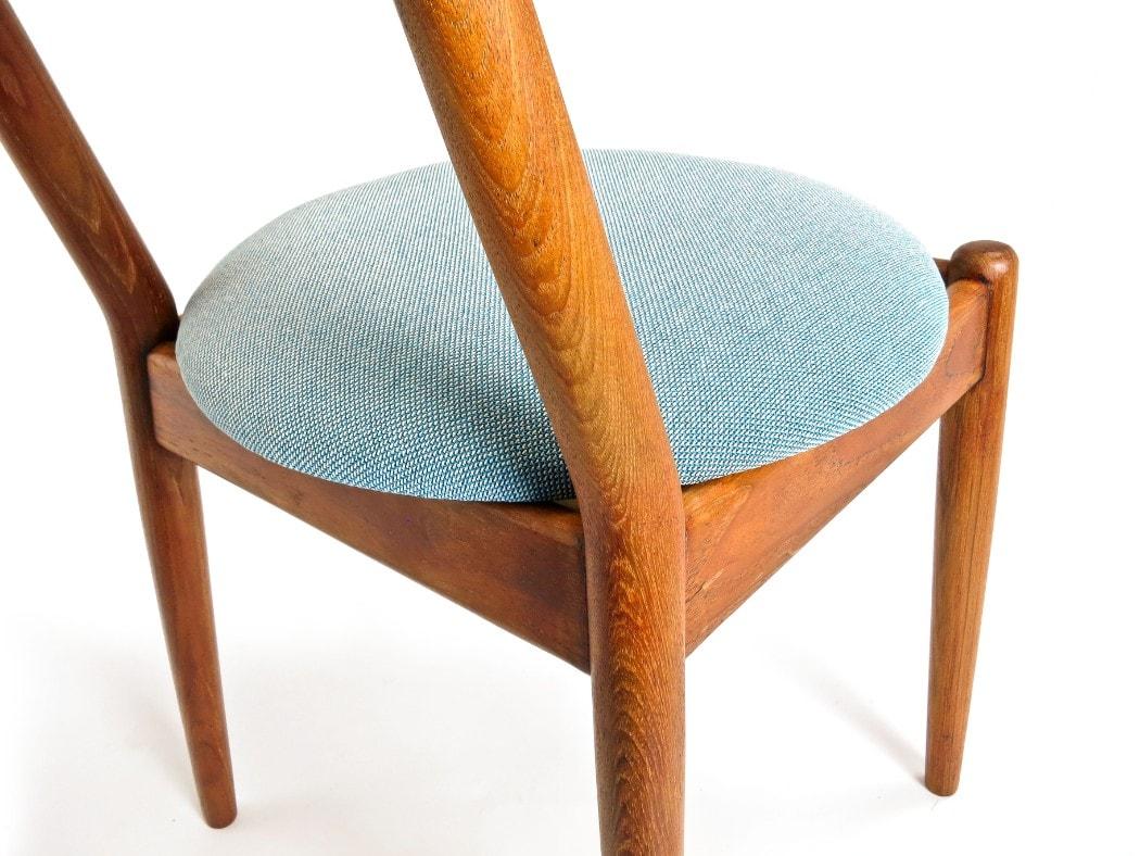 Teak dining chairs Svensson fabric Wohlert Jeppesen Mid century chair London 1950's
