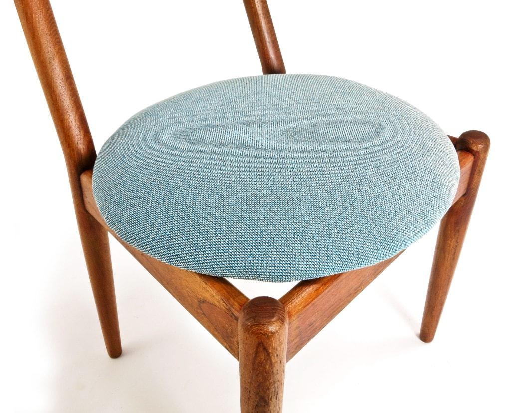 Teak dining chairs mid century chair Louisiana Jeppesen London 1950's