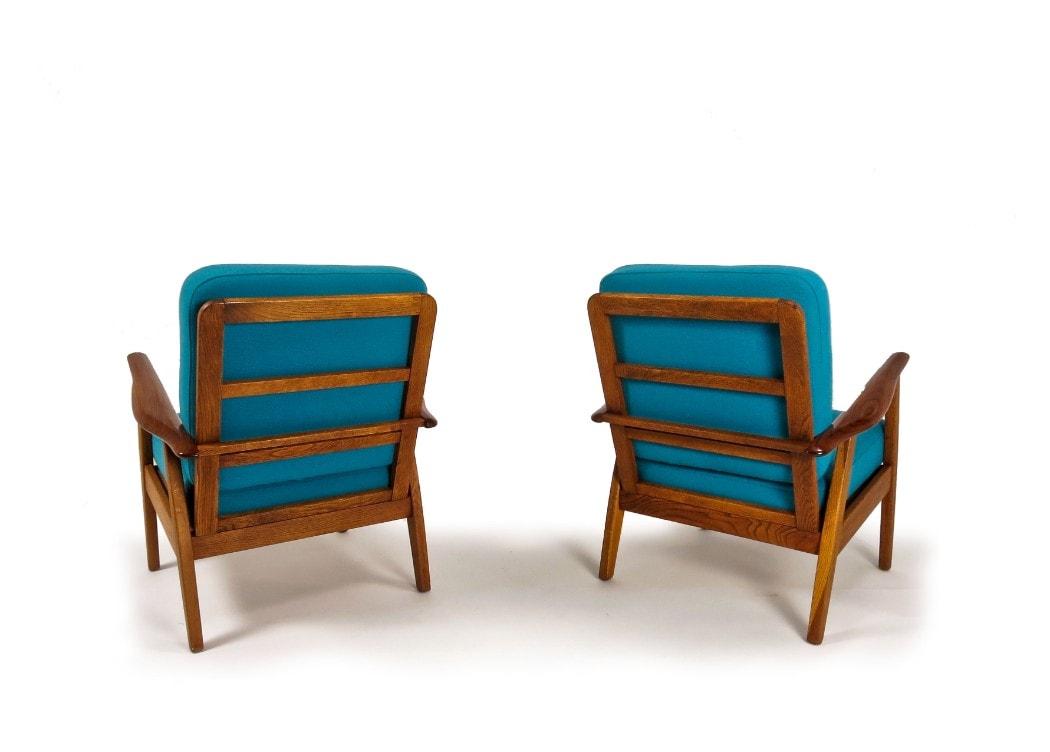 Danish armchair teak oak mid century furniture London 1950's