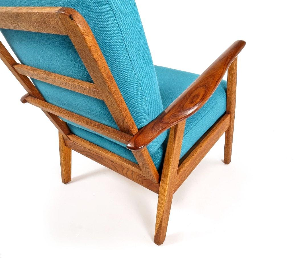 Danish armchair London mid century modern furniture teak oak wool 1950's