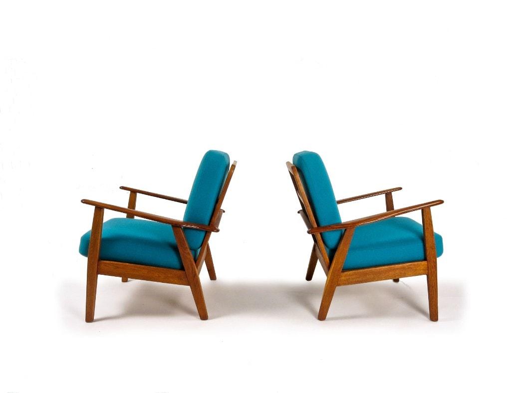 Danish armchair mid century furniture teak oak wool 1950's