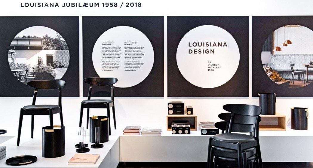 Louisiana museum modern art teak dining chair Jeppesen Wohlert 1950's