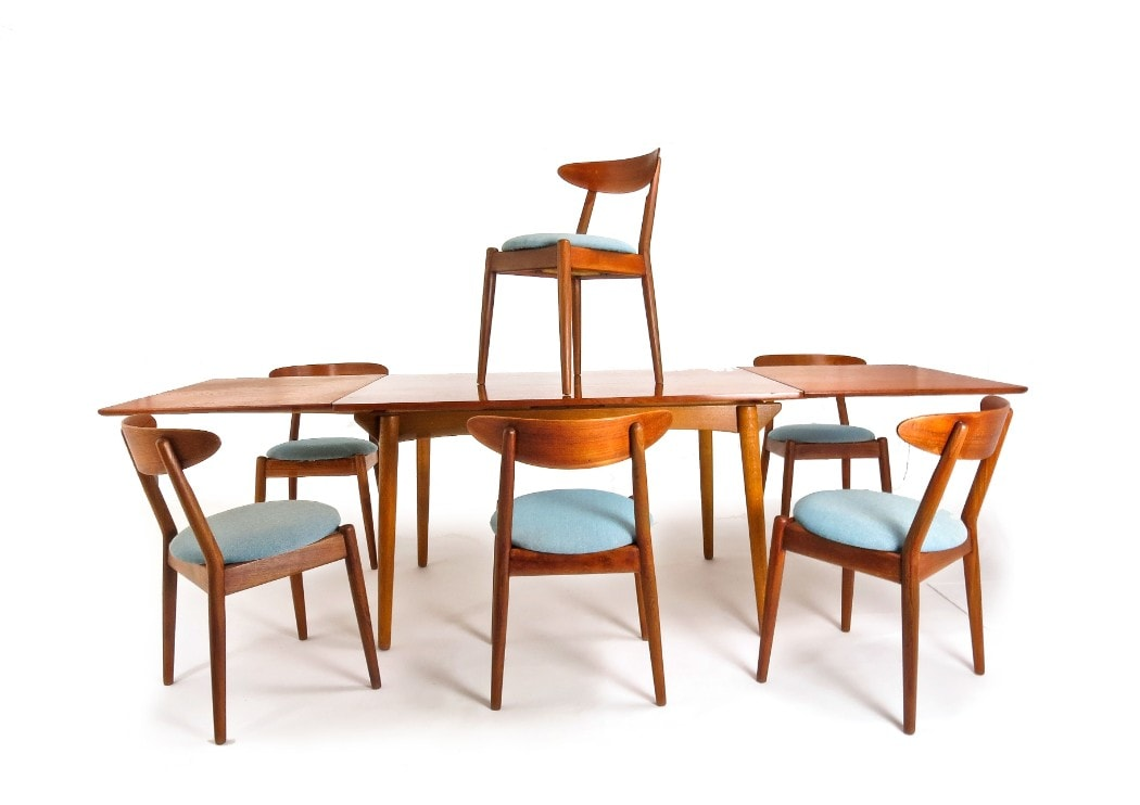 Danish Dining Table Mid Century Dining Table Danish Modern Alto Stile