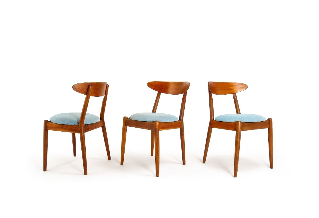 Jeppesen Furniture teak dining chairs Louisiana chair 1950's London