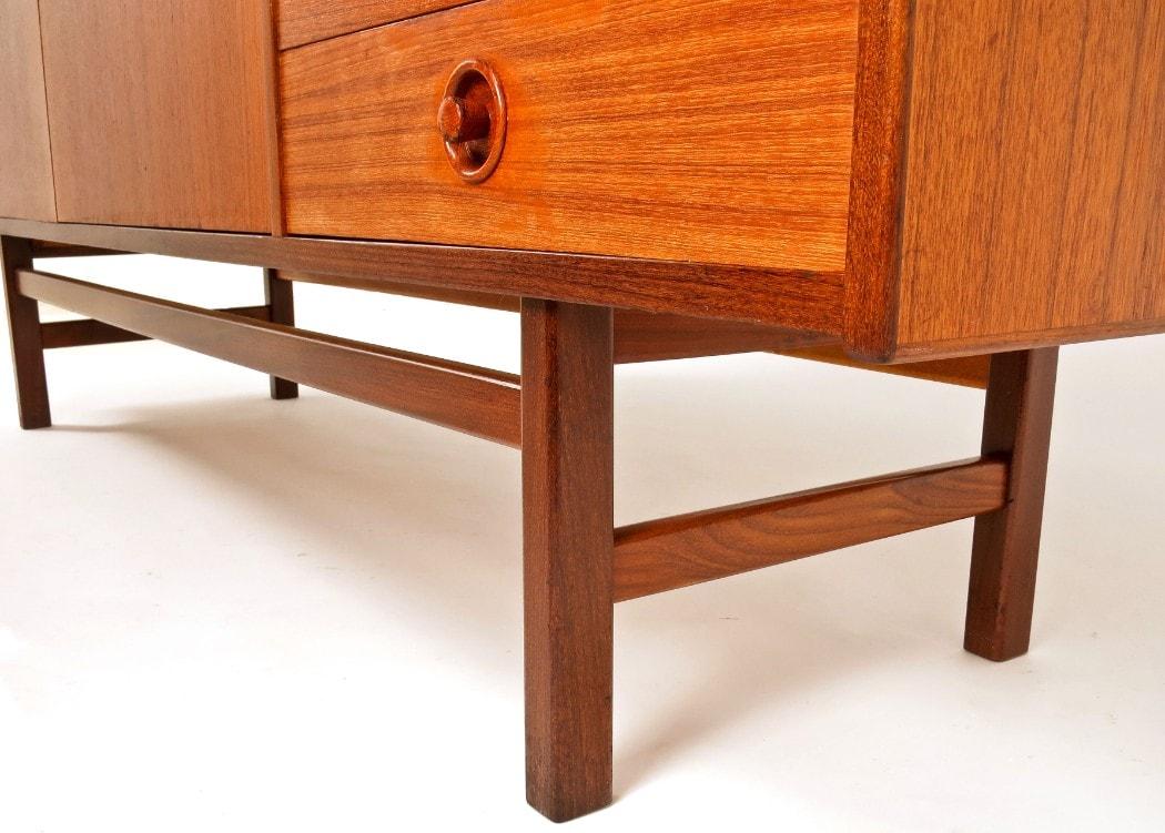 Danish sideboard teak & rosewood mid century modern furniture 1950's