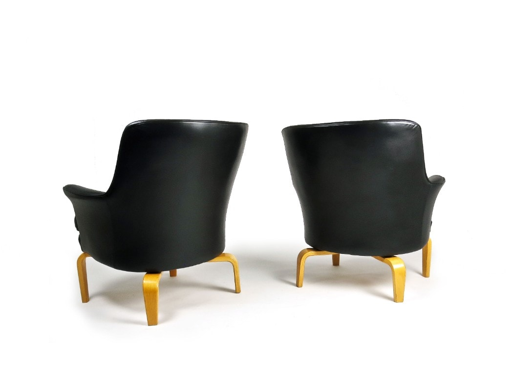 Arne Norell armchair leather mid century chair UK