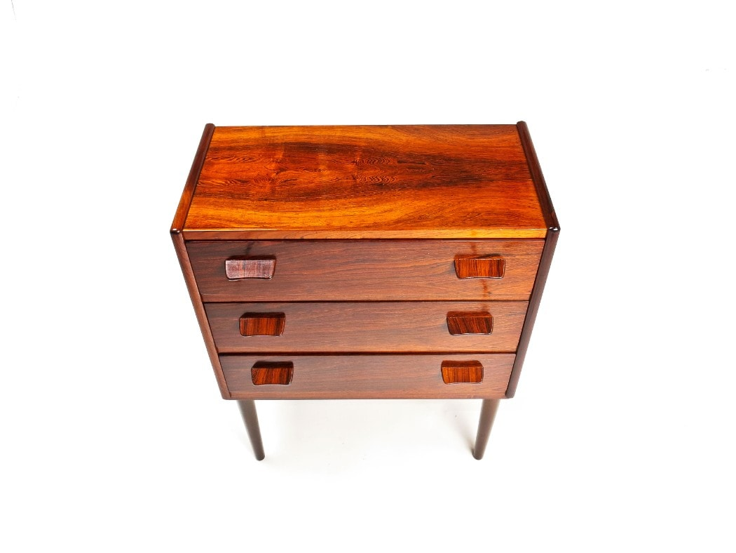 Danish chest drawers rosewood mid century furniture 1950's