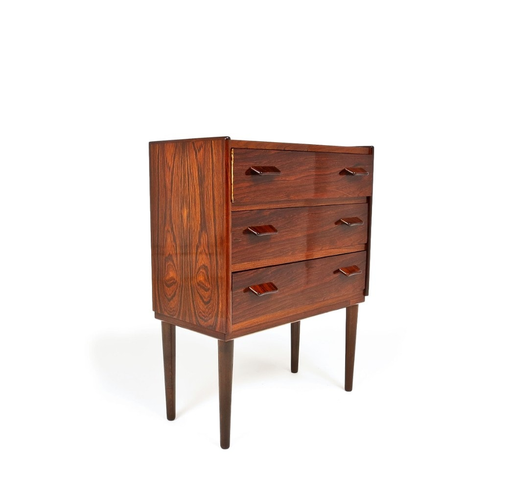 Rosewood chest drawers Danish mid century modern Scandinavian design 1950's