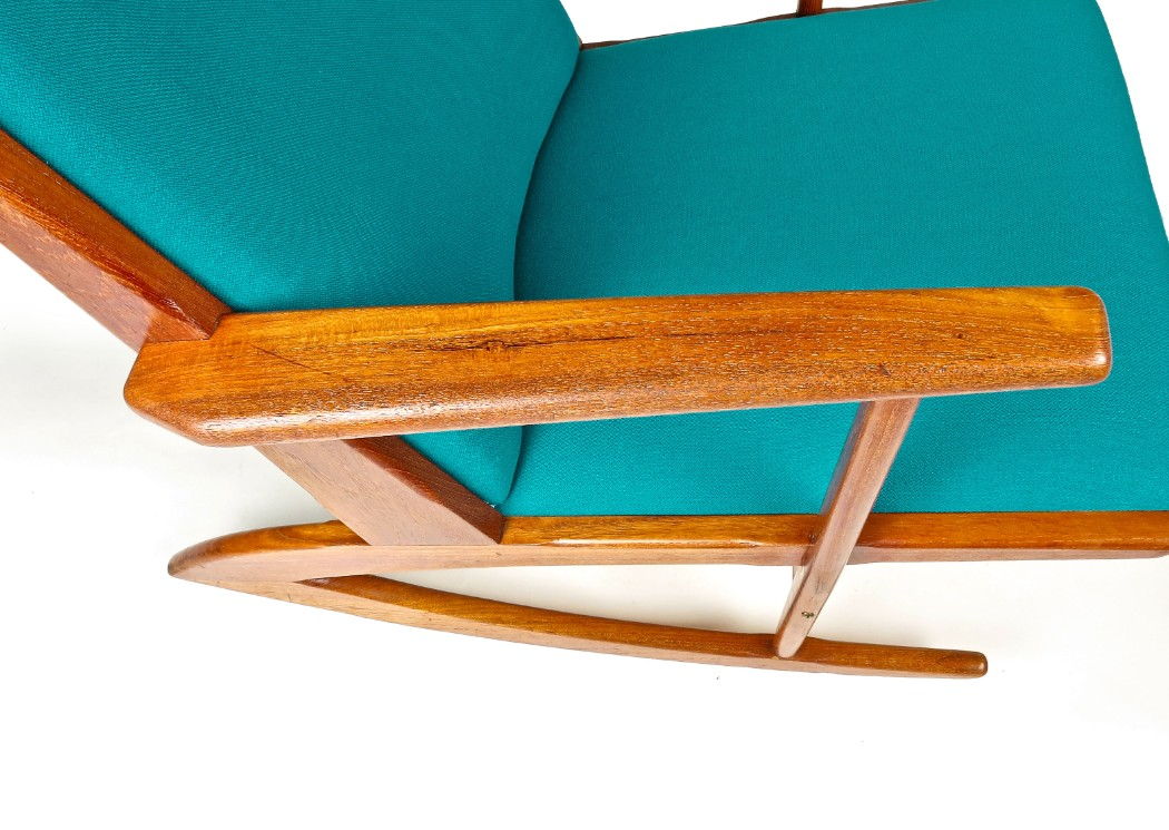 Swell Mid Century Rocking Chair Danish Armchair Teak Chair Creativecarmelina Interior Chair Design Creativecarmelinacom