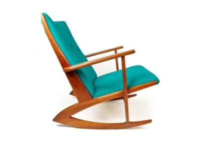 Danish rocking chair teak mid century modern chair London