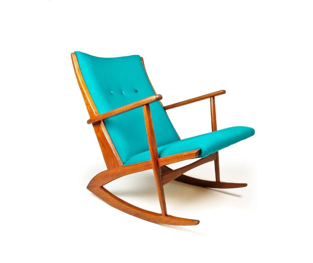 Excellent Mid Century Rocking Chair Danish Armchair Teak Chair Unemploymentrelief Wooden Chair Designs For Living Room Unemploymentrelieforg