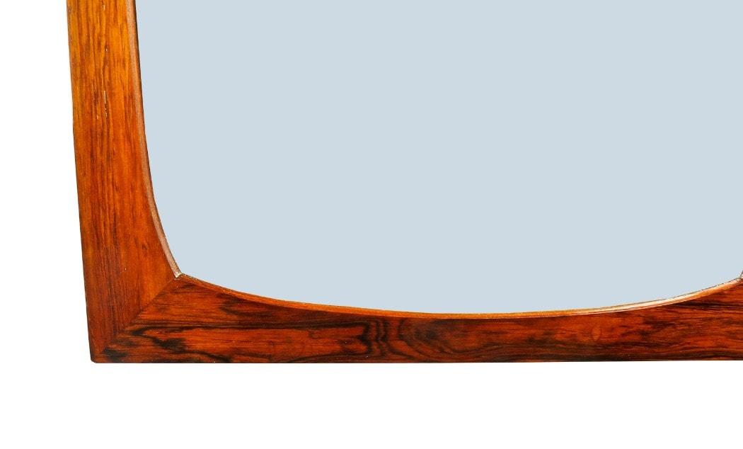 Rosewood mid century furniture mirror Danish modern UK London 1950's