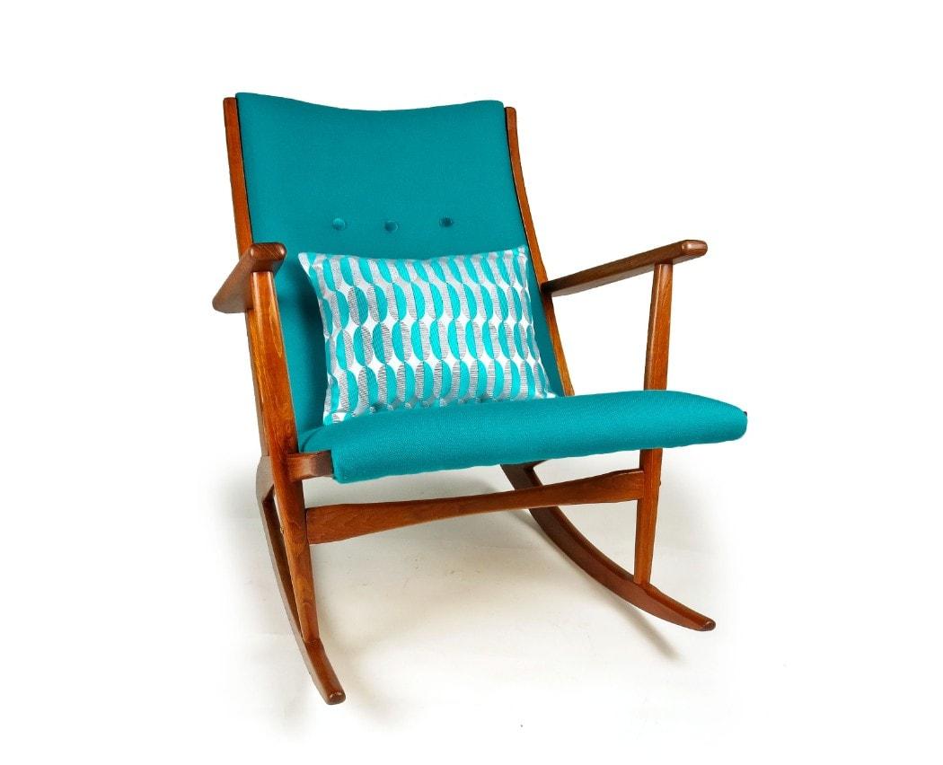 Mid century rocking chair Holger Georg Jensen Danish Furniture Vintage