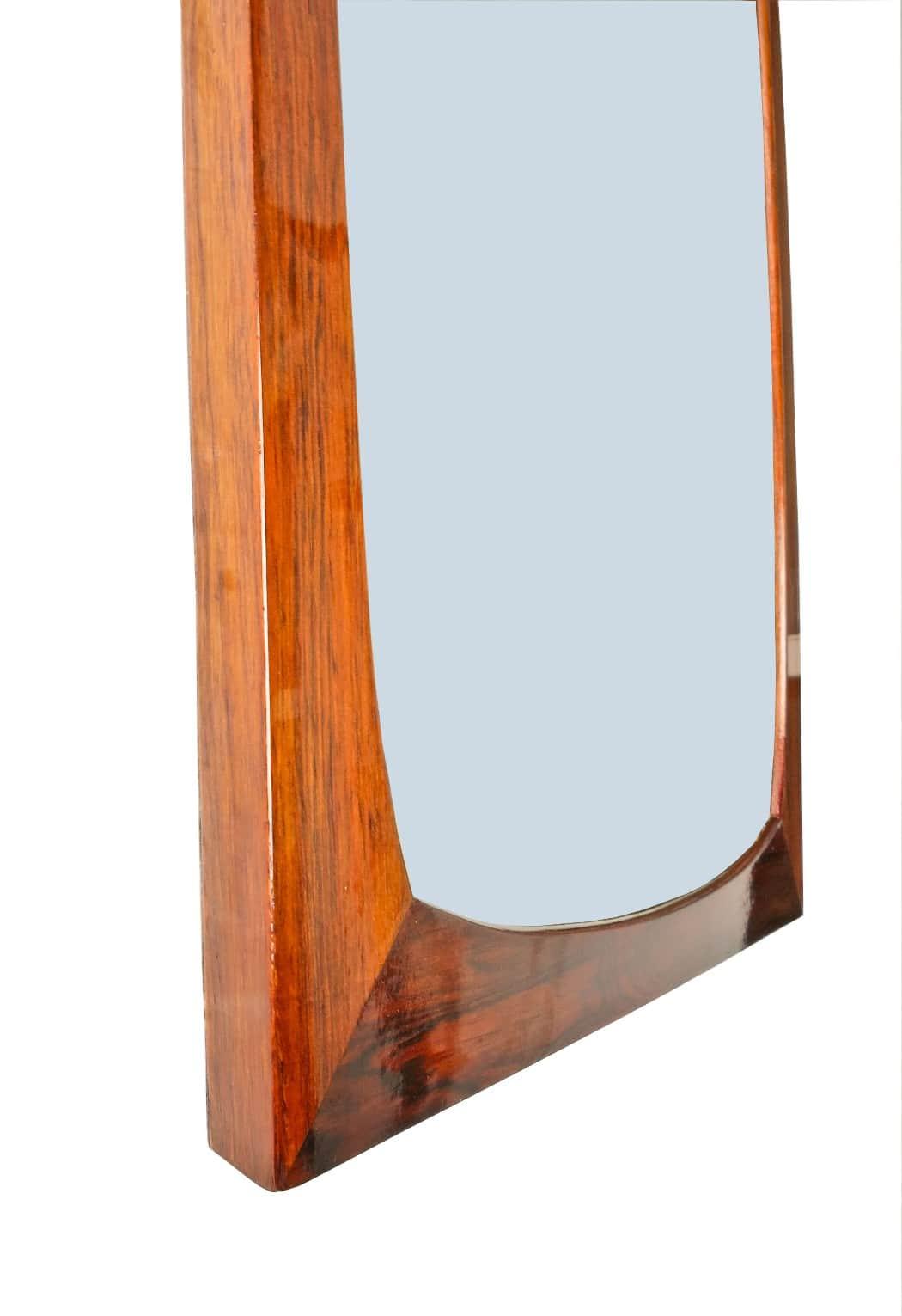 Mid century rosewood mirror Danish modern furniture scandinavian London