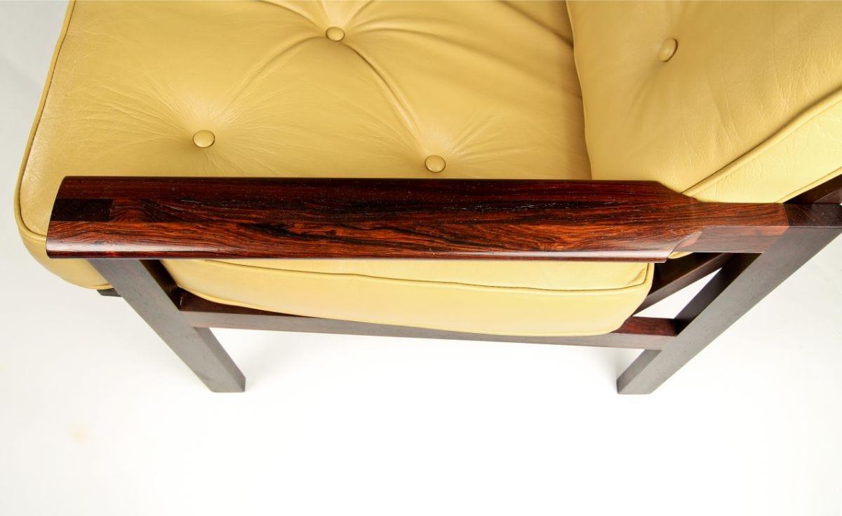 vintage furniture online Illum Wikkelso Danish Leather Rosewood UK